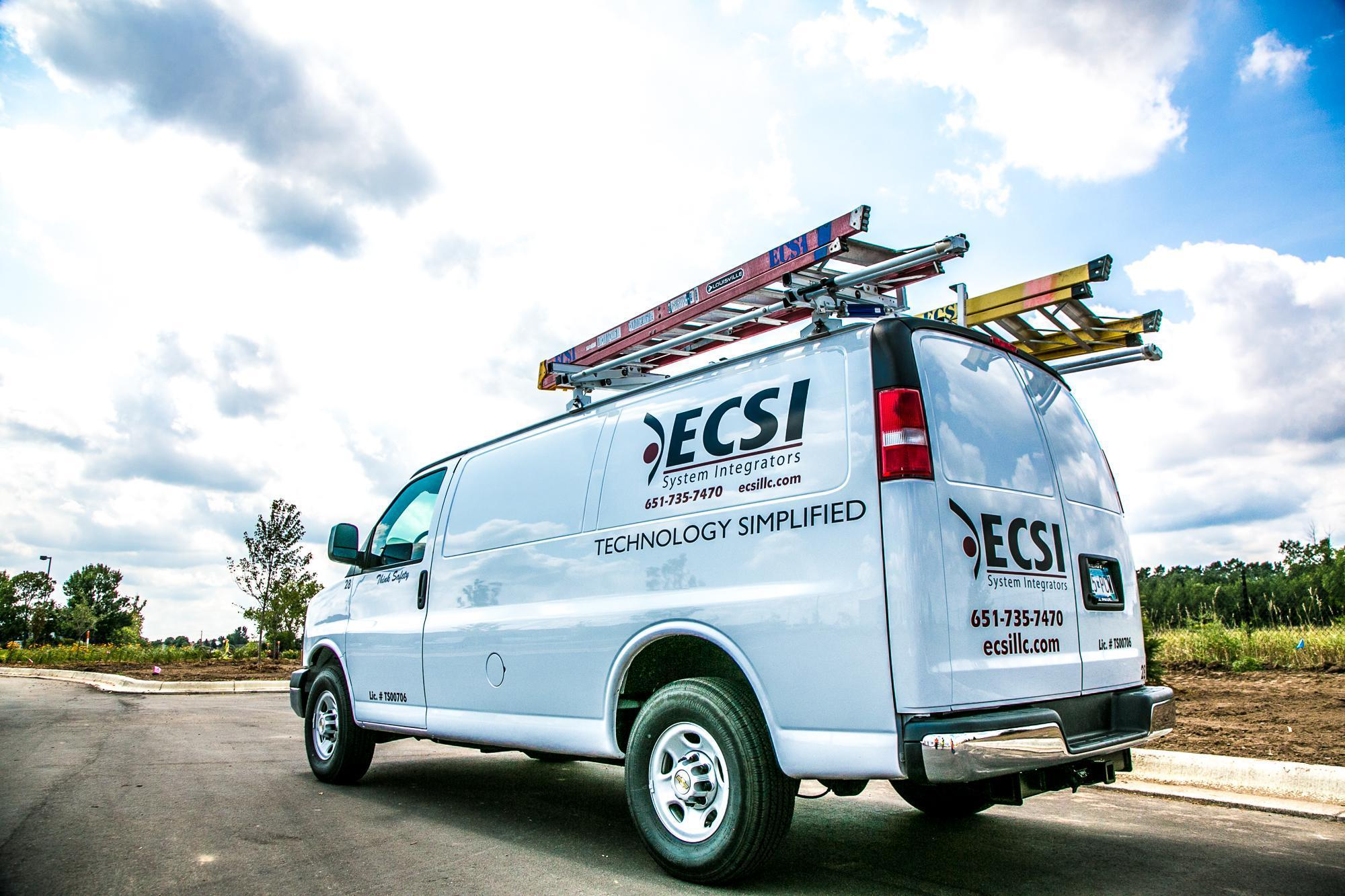 Photo of a ECSI System Integrators truck